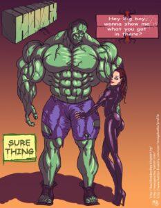 Hulk vs Black Widow - Mnogobatko   MyComicsxxx